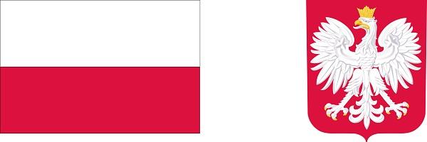 Flaga i godło Rzeczypospolitej Polski